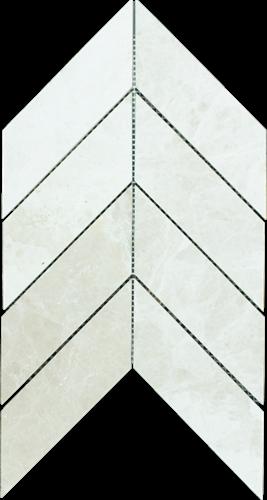 Mosaic Chevron Large Bottocino