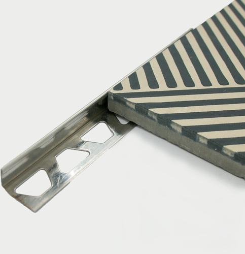 Edelstahl-Eckprofil 16mm 16mm x 2,5 mtr