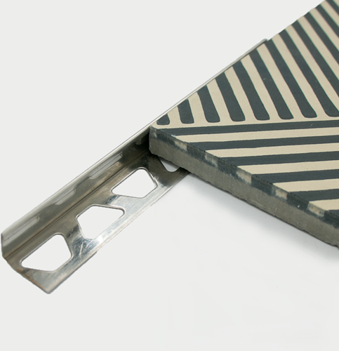 Edelstahl-Eckprofil 17.5mm 17.5mm x 2,5 mtr