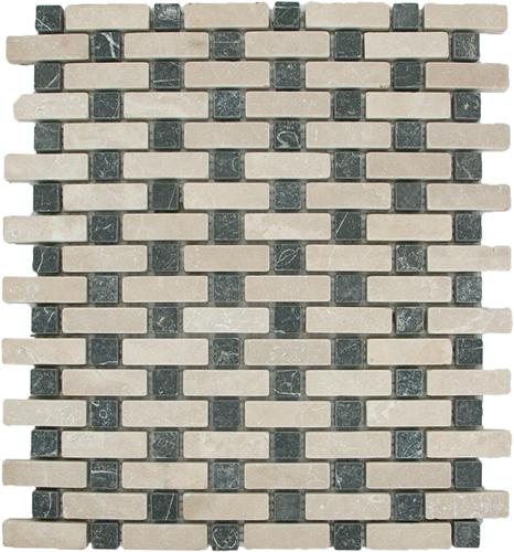 SAM Mosaic Brick Basket Bottocino Toros Black