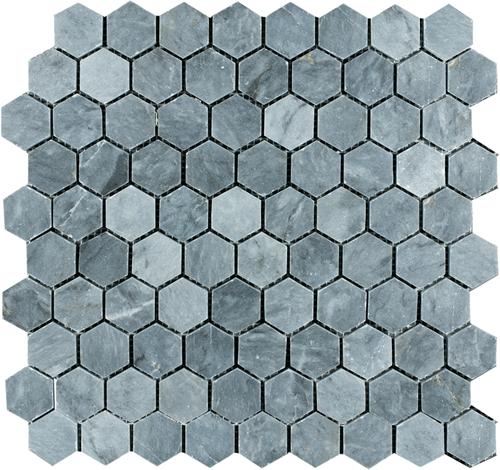 Mosaic Hexagon Plain Blue Stone
