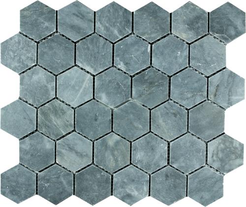 Mosaic Hexagon Plain Blue Stone BIG