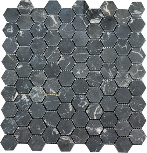 SAM Mosaic Hexagon Plain Toros Black