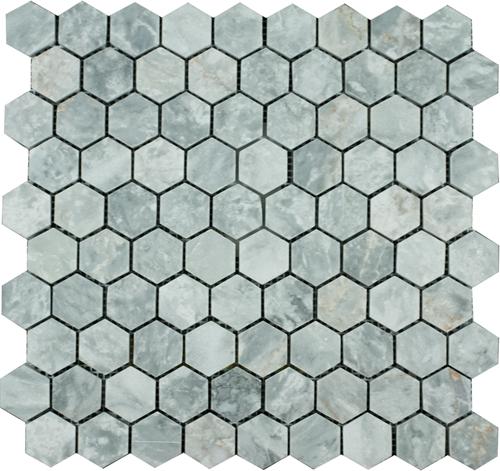 Mosaic Hexagon Plain Silver Shadow