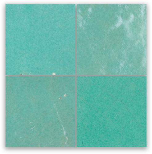 SAM Zellige Vert Turquoise 10x10cm