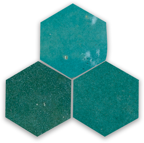 SAM Zellige Atlas Petrol Hexagone