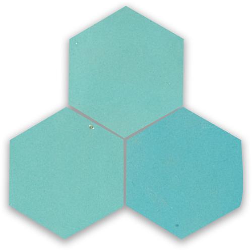 Zellige Bleu Ciel Hexagone