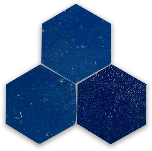 Zellige Bleu Foncee Hexagone