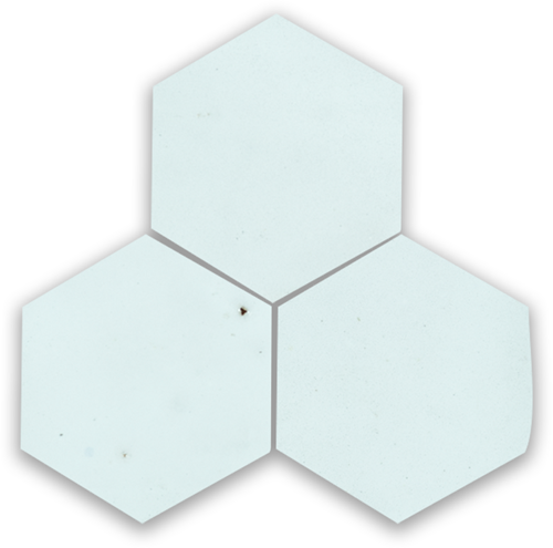 SAM Zellige Bleu Solaire Hexagone