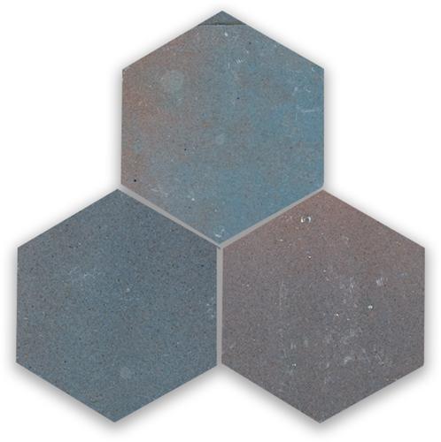 Zellige Gris Aubergine Hexagone