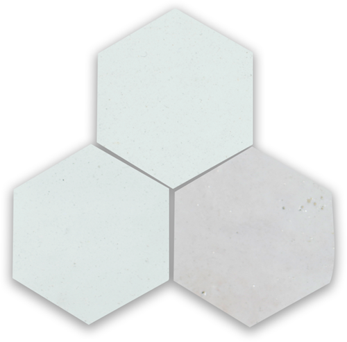 SAM Zellige Neige Blanc Hexagone