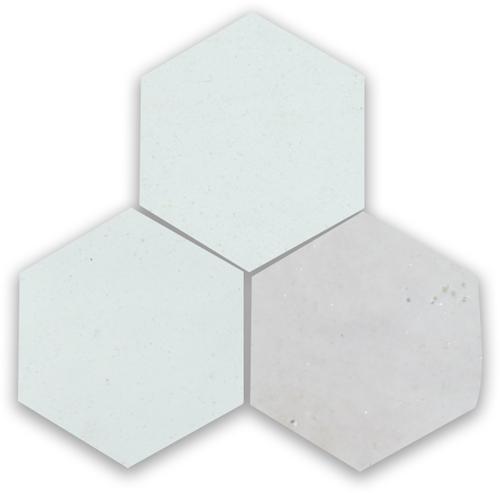 Zellige Neige Blanc Hexagone