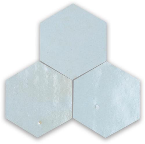 Zellige Pastel Bleu Hexagone