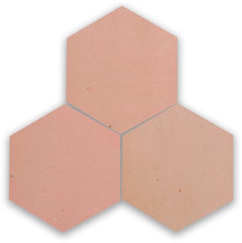 Zellige Rose Doux Hexagone