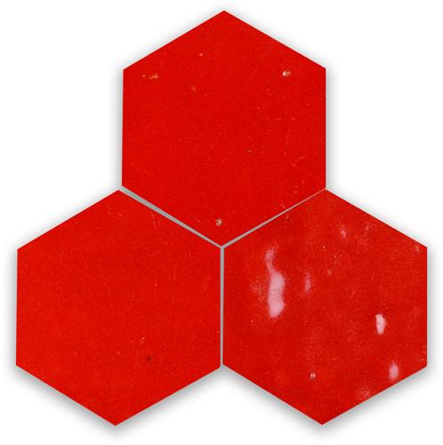 SAM Zellige Rouge Sang Hexagone