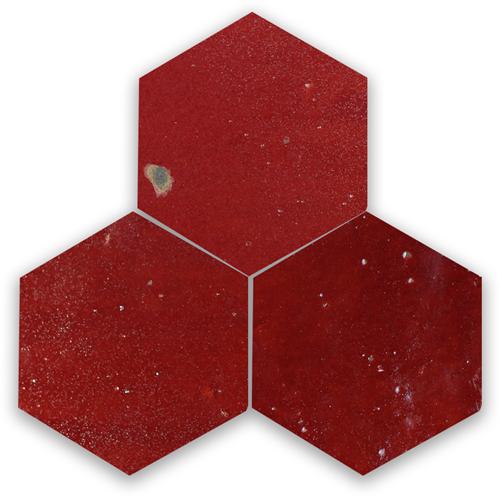 SAM Zellige Bordeaux Rouge Hexagone