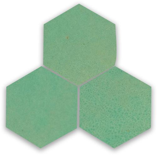 Zellige Turquoise Hexagone