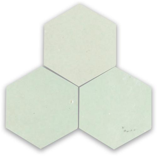 Zellige Vert Clair Hexagone