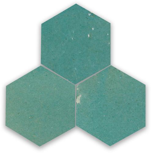 Zellige Vert Gris Hexagone