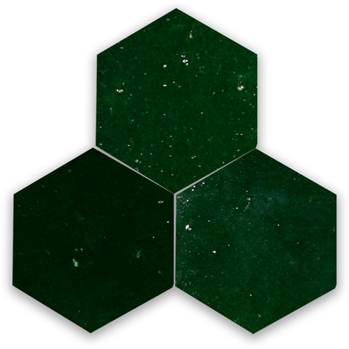 SAM Zellige Vert Mousse Hexagone