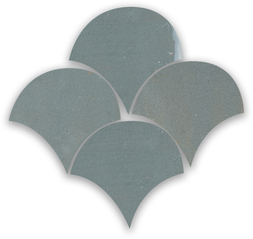 SAM Zellige Anthracite Poisson Echelles 10x10cm