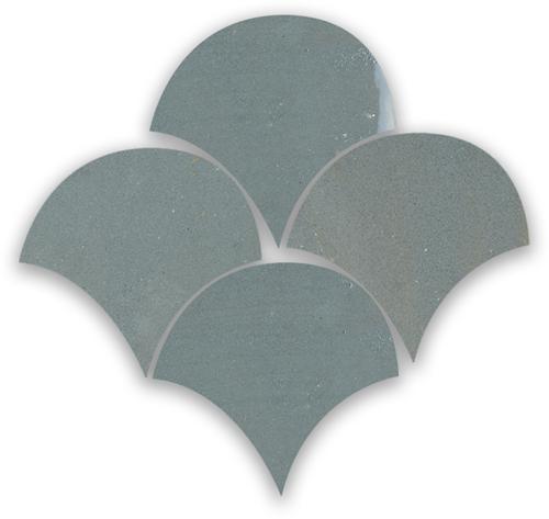 Zellige Anthracite Poisson Echelles 10x10cm