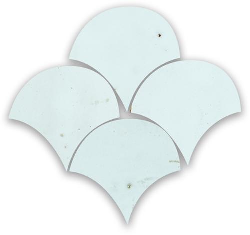 SAM Zellige Bleu Solaire Poisson Echelles 10x10cm