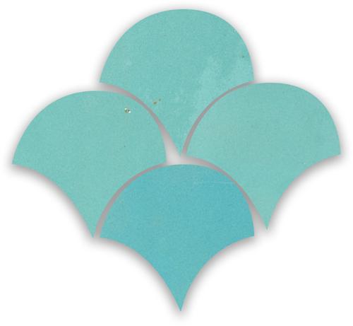 SAM Zellige Bleu Ciel Poisson Echelles 10x10cm