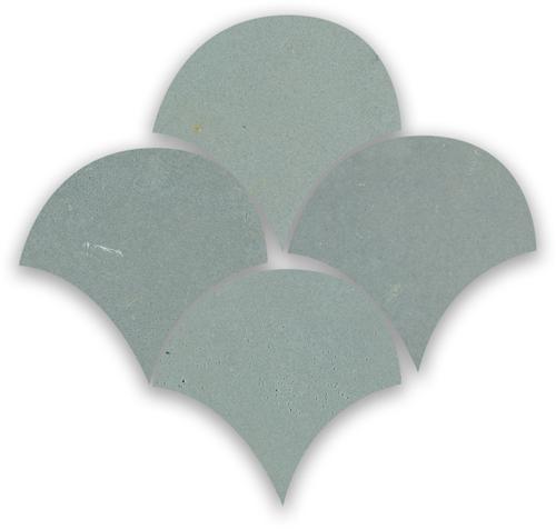 SAM Zellige Ciment Poisson Echelles 10x10cm