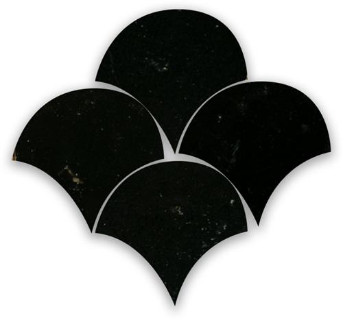 SAM Zellige Noir Poisson Echelles 10x10cm