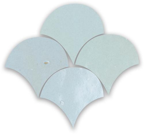 Zellige Pastel Bleu Poisson Echelles 10x10cm