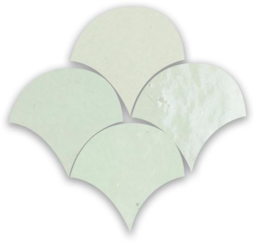 Zellige Vert Clair Poisson Echelles 10x10cm