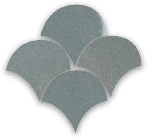 Zellige Anthracite Poisson Echelles 5x5cm