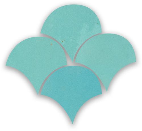 Zellige Bleu Ciel Poisson Echelles 5x5cm