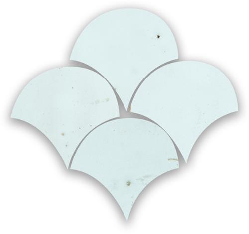 Zellige Bleu Solaire Poisson Echelles 5x5cm