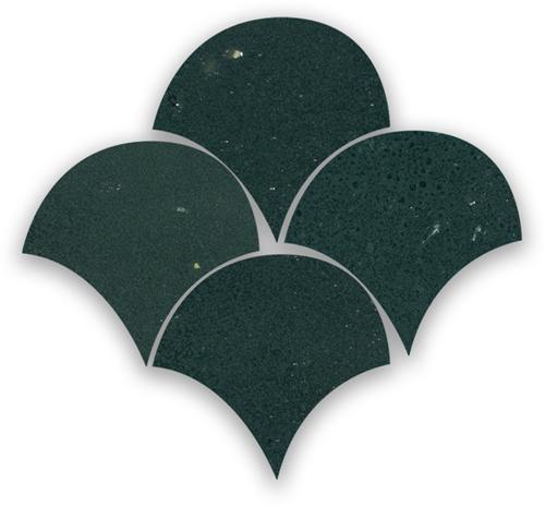 Zellige Charcoal Poisson Echelles 5x5cm