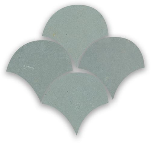 Zellige Ciment Poisson Echelles 5x5cm