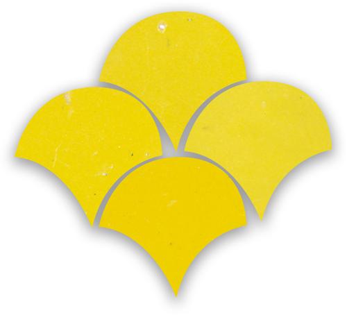 Zellige Citron Poisson Echelles 5x5cm