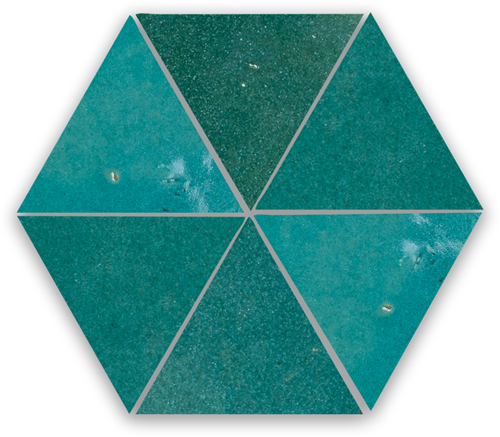 SAM Zellige Atlas Petrol Triangle