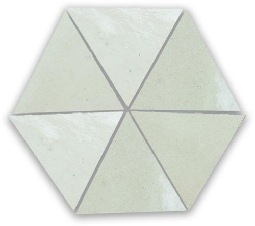 Zellige Blanc Triangle