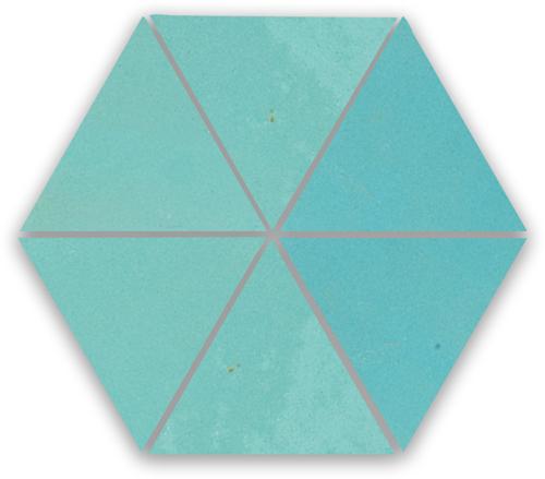Zellige Bleu Ciel Triangle