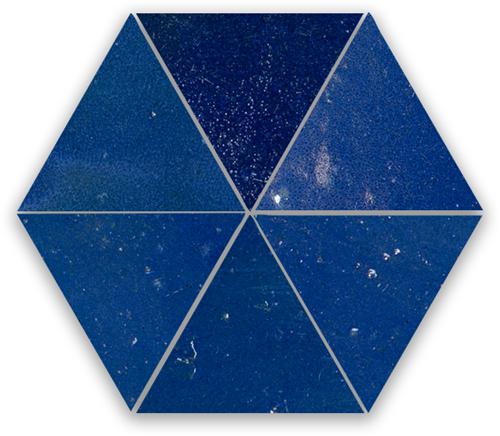 Zellige Bleu Foncee Triangle