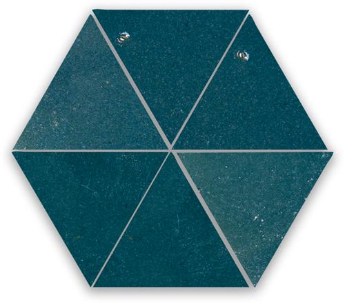 SAM Zellige Bleu Marine Triangle