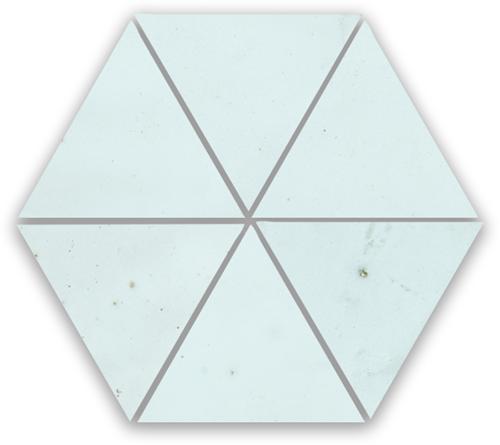 SAM Zellige Bleu Solaire Triangle