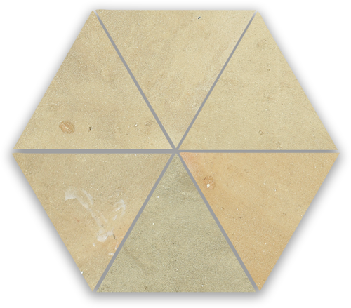SAM Zellige Naturel Triangle