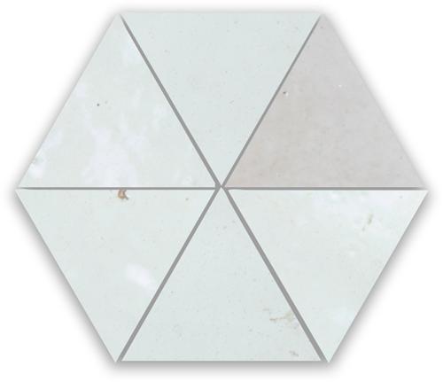 SAM Zellige Neige Blanc Triangle