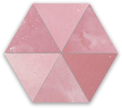 SAM Zellige Rose Vieux Triangle