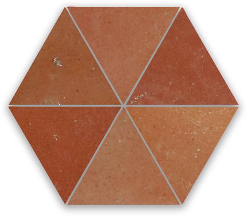 SAM Zellige Rose Rouge Triangle