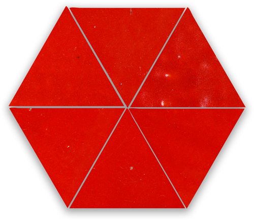 SAM Zellige Rouge Sang Triangle