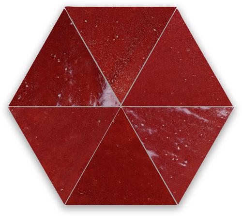 SAM Zellige Bordeaux Rouge Triangle